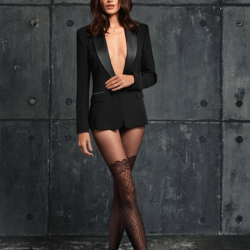Collant Moda Donna Scozzese SISI Collant moda con corpino culotte senza cuciture 50 DEN NERO