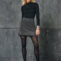 Collant Moda Donna Zebrato SISI Collant moda semivelato con corpino culotte senza cuciture 40 DEN NERO