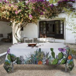 Tovaglia in panama stampata art Cactus 140*240
