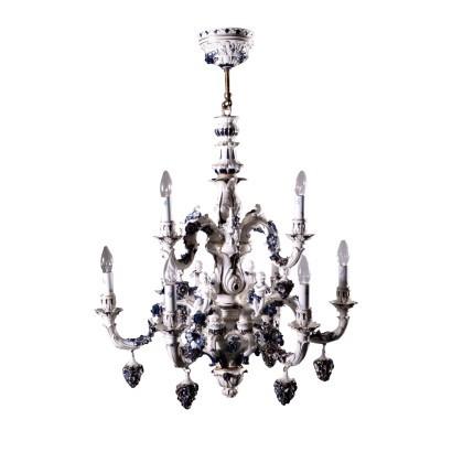 Vendo lampadario capo di monte originale per camera da letto o sala, raffinato ed elegante, € 150. Lampadario Capodimonte Lampadari E Lumi Antiquariato Dimanoinmano It