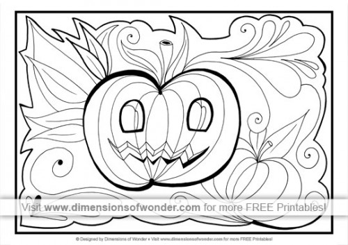 Free Printable Halloween Coloring Pages – Dimensions Of Wonder