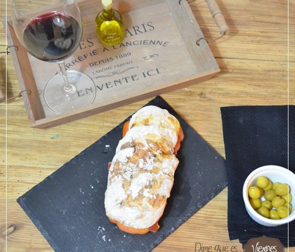 Bocadillo campero, en pan de chapata rustica aromatica para el #diadelsuperbocadillo