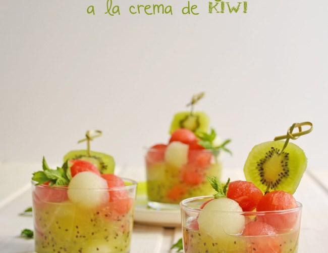 Ensalada de Sandia y Melon a la crema de Kiwi