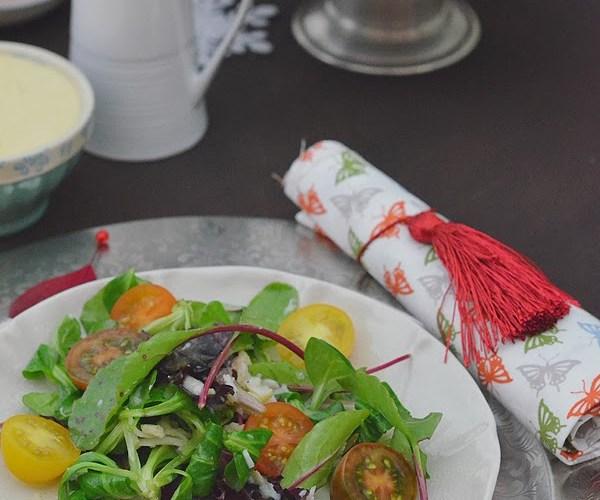 Ensalada de Bogavante con mahonesa de almendras y vinagreta cítrica