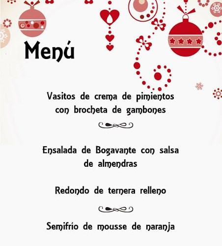 Menu para Navidad, primera sugerencia y recetas completas