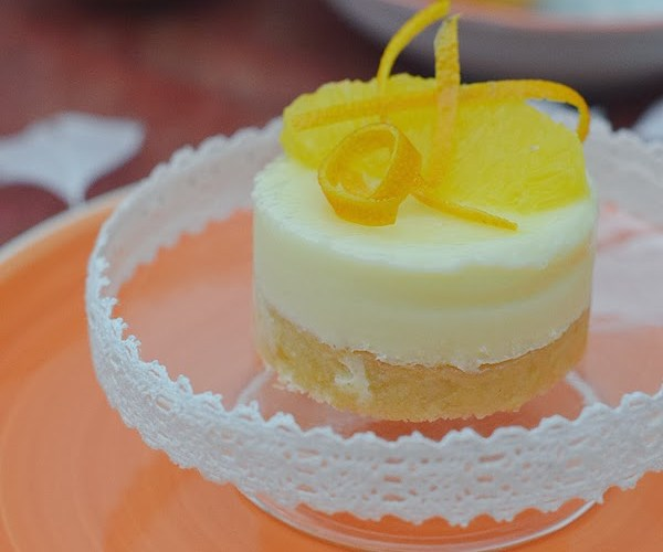 Semifrío o Mousse helada de naranja