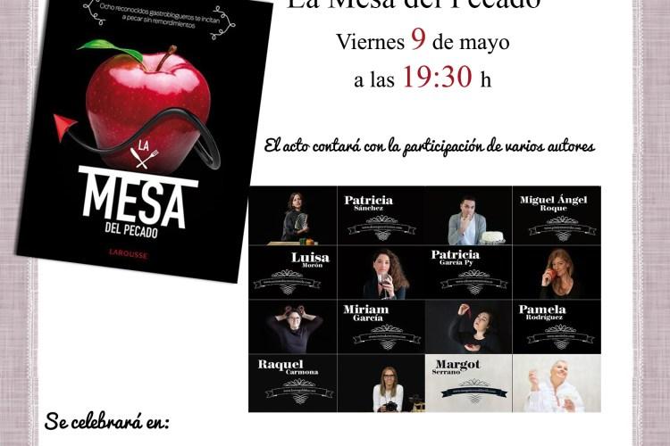 Presentación de La Mesa del Pecado en Barcelona,  el 09 de mayo 2014
