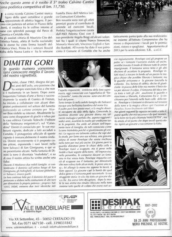 ARTICOLO-GIORNALE-CALANDRINO'la-torre-maledetta'