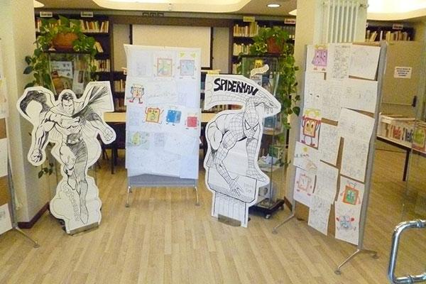 mostra-di-fine-anno-del-corso-fumetto-in-biblioteca