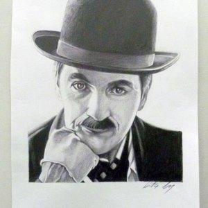 Ritratto a matita - Charlie Chaplin - Dimitri Gori