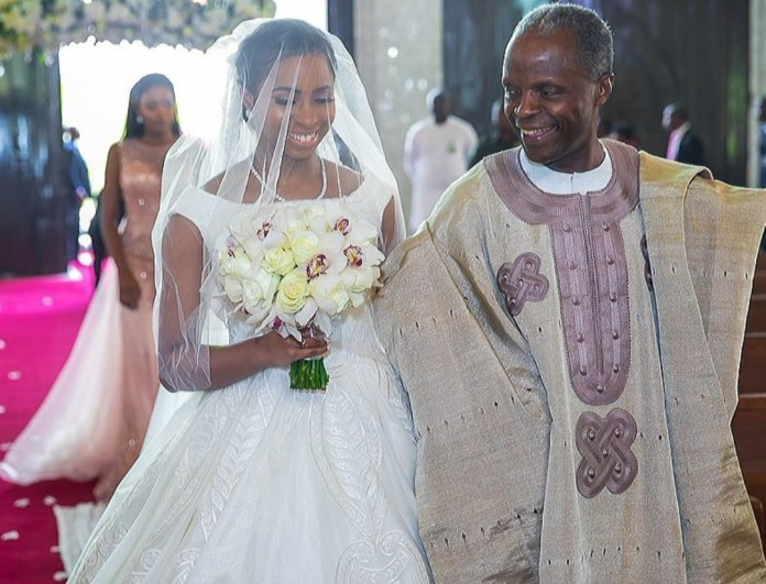 More Photos from the white wedding of Osinbajo's daughter