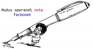 Note the way the notepad note on Facebook page