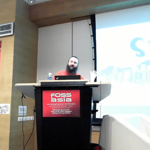 DimSumLabs' member at FOSSASIA 2018 Singapore