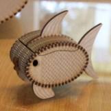 Laser cut elliptical fish box