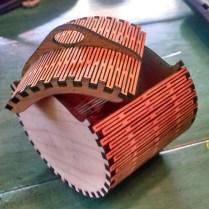 Laser cut elliptical simple box