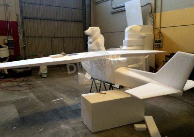 escultura corcho blanco