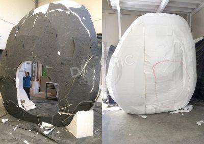 Escultura gigante porexpan