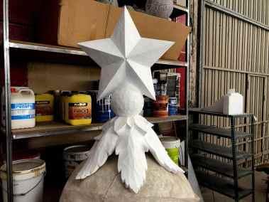 porexpan escultura para carroza navidad