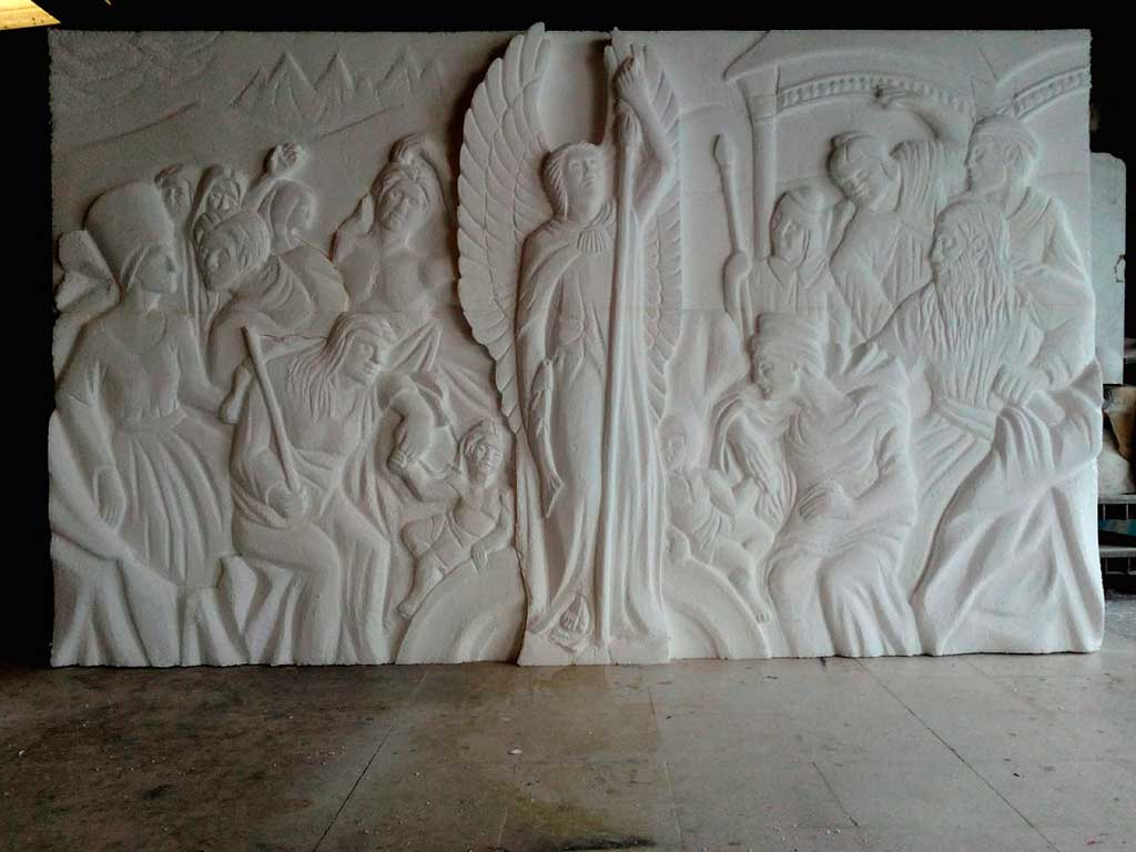 Escultura en la Casa de Papel 1