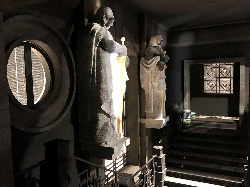 Escultura de la Casa de Papel 3 porexpan lateral derecha