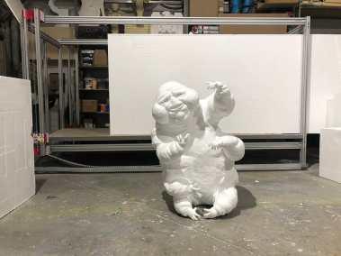 Escultura fantasma antes de pintura