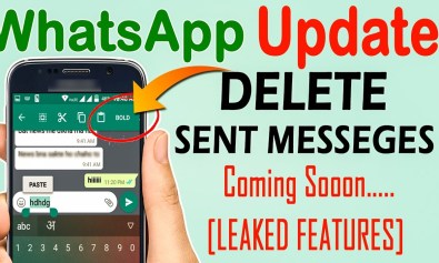 whats app new update delete everything