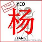 Asal usul Marga Yeo (marga Yang)