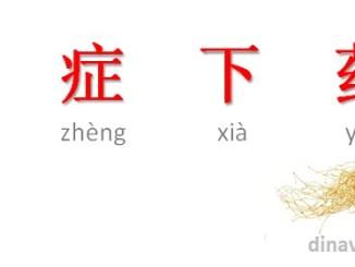 Idiom Mandarin Dui Zheng Xia Yao