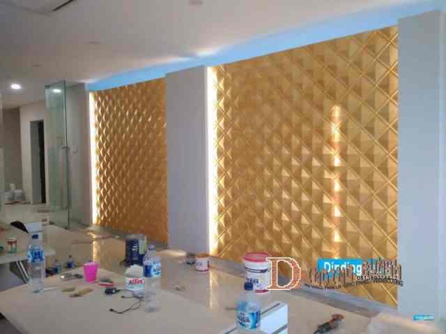 Pemasangan 3d wall panel di CIMB Niaga Tanggerang