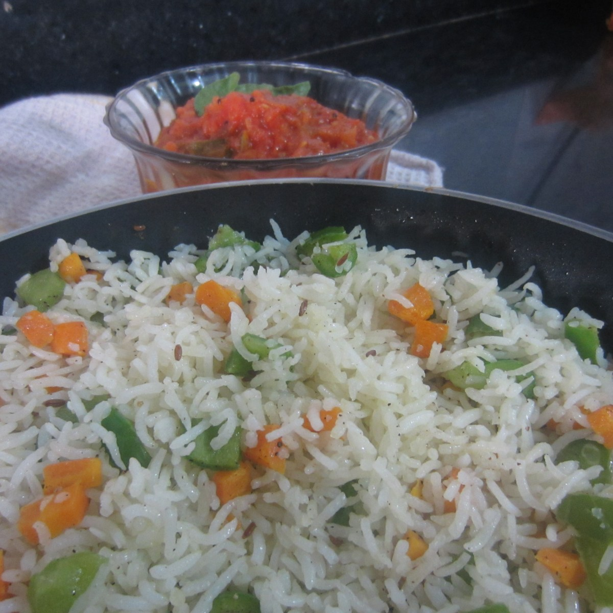 Stir Fried Vegetable Rice