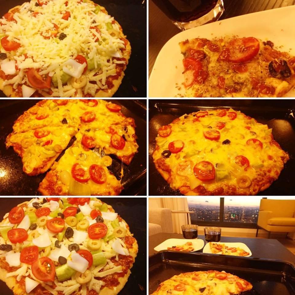 Whole wheat homemade pizza