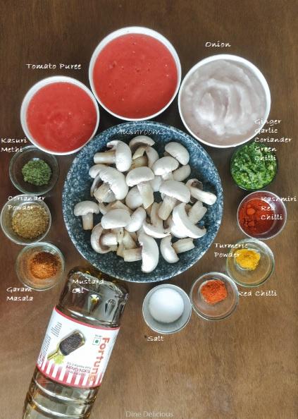 Mushroom Masala Ingredient