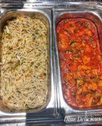 Hakka Noodles & Veggies in Schezwan Sauce