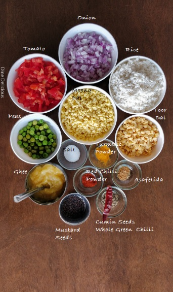 Masala Moong Dal Khichdi Ingredients