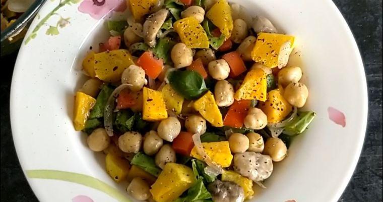 Roasted Pumpkin & Chickpea Salad