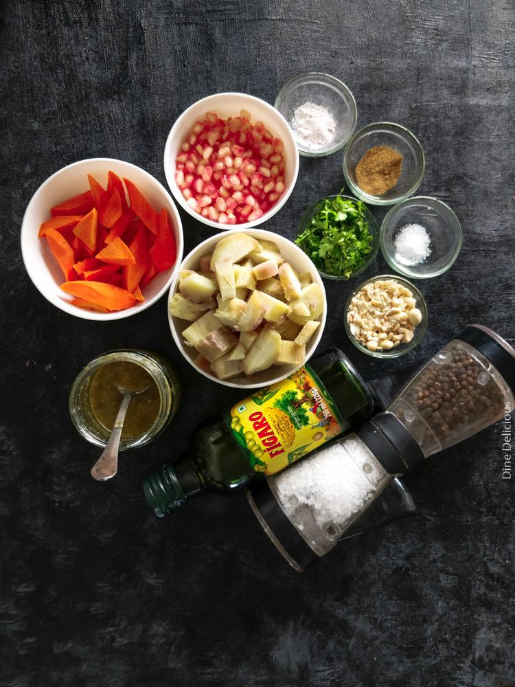 Sweet Potato & Carrot Salad Ingredients