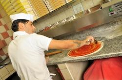Vente de pizza à emporter
