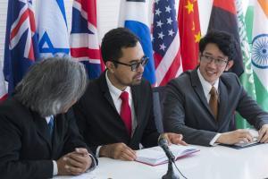 Cooperation of international businessmen, International flag