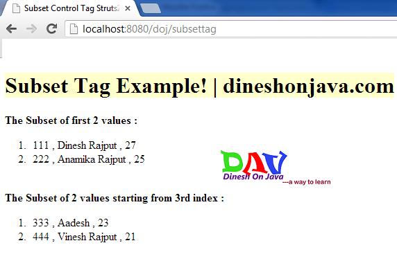 Struts 2 UI Tags - form, checkbox, radio, select, submit - JournalDev