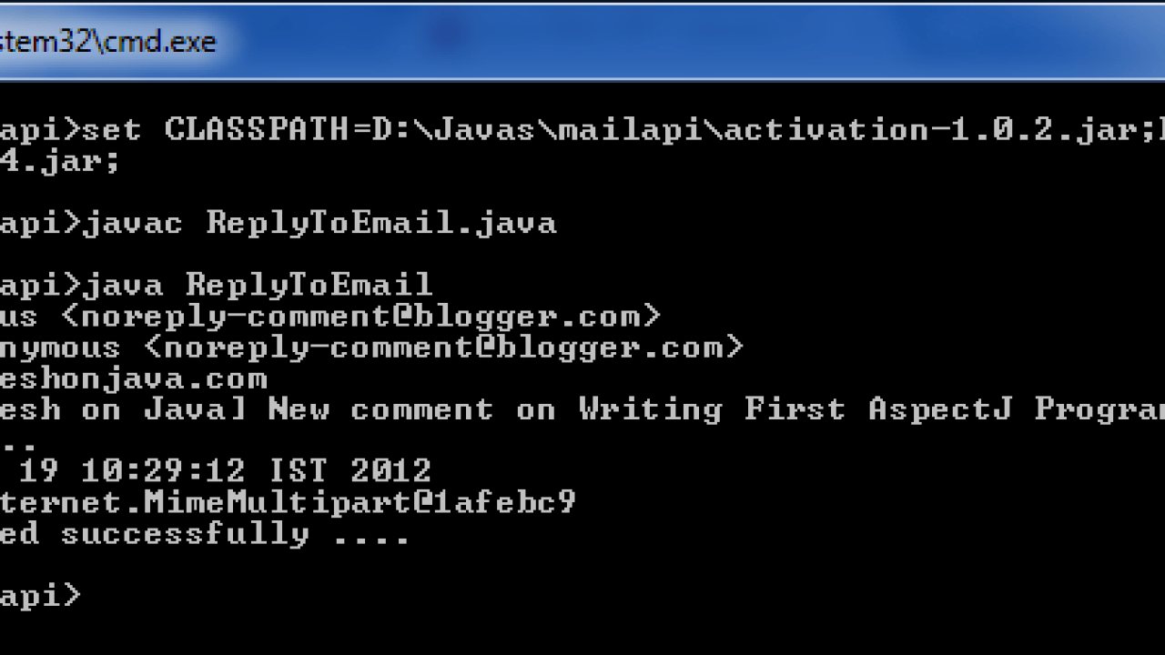 Replying email in Java Mail API - Dinesh on Java