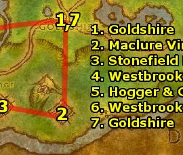 At Goldshire Turn In Your Quests