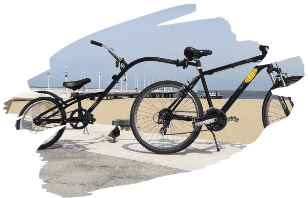 Vélo suiveur noir Arcachon DINGOVELOS