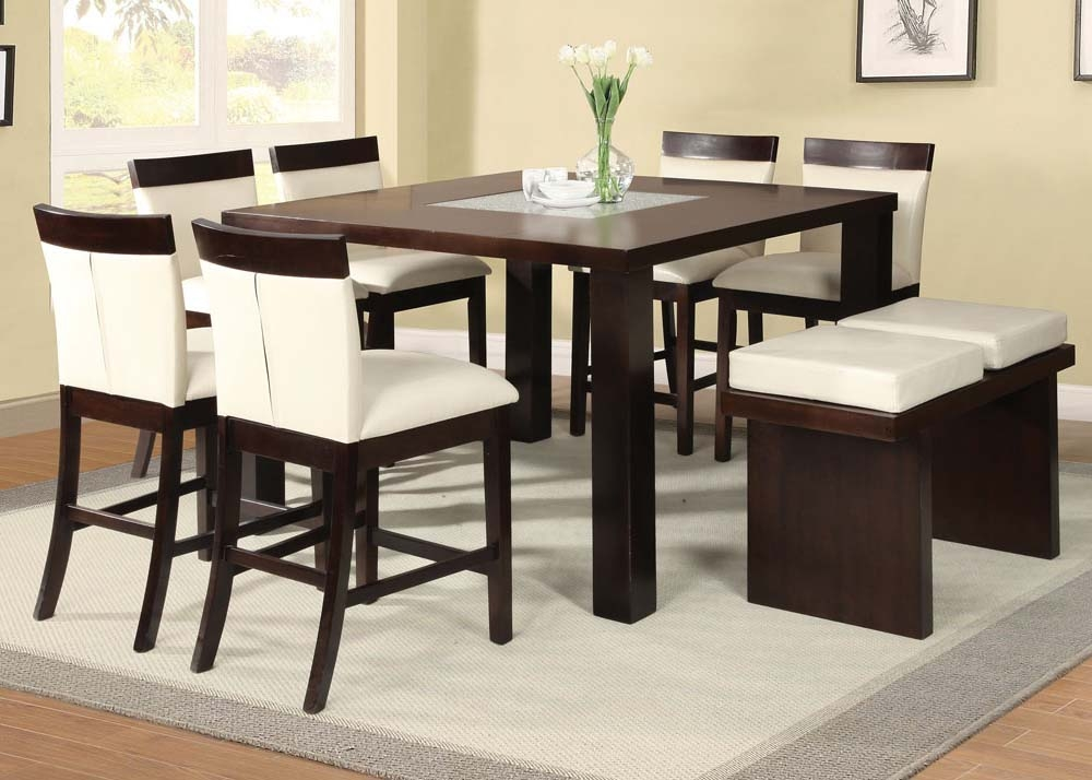 Acme Keelin 7PC Counter Height Dining Room Set With Insert Table Top In Espresso By Dining Rooms