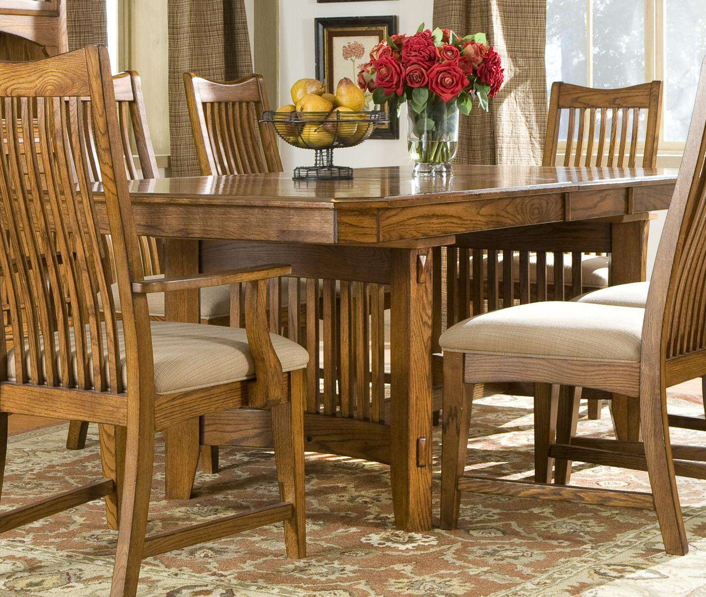 Intercon Furniture Pasadena Revival Trestle Dining Table
