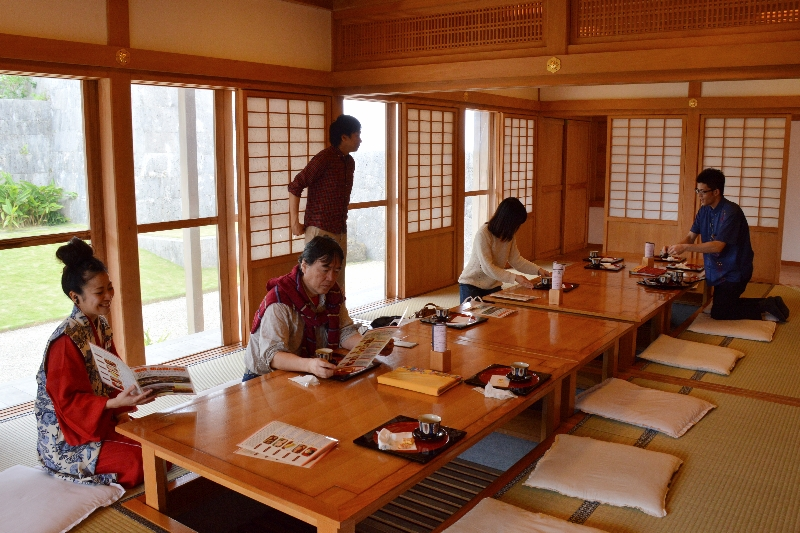 Tea Room at Shuri Castle Okinawa