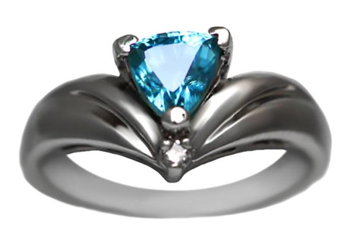 30 Carat Trillion Glacier Ice Ring with No Diamonds from Alaska Jewelry