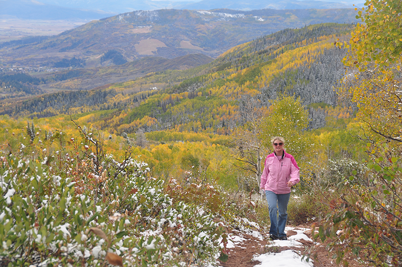 how to stay fit on the road Hiking in Steamboat Springs