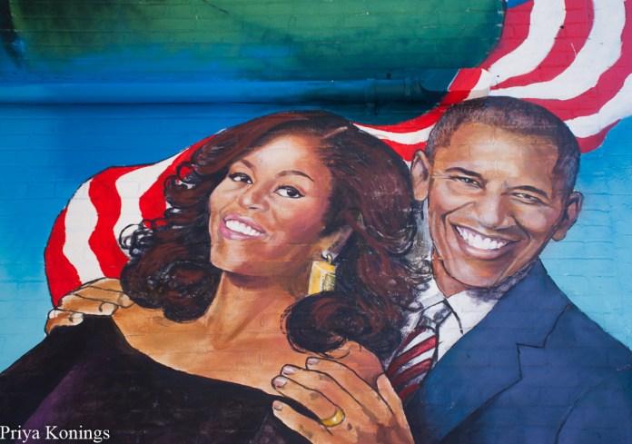 The murals at Ben's Chili Bowl Carpe DC Food Tours