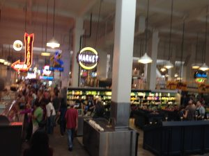 Overview of Grand Central Market in LA Koreatown