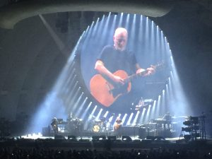 David Gilmour in concert at Hollywood bowl